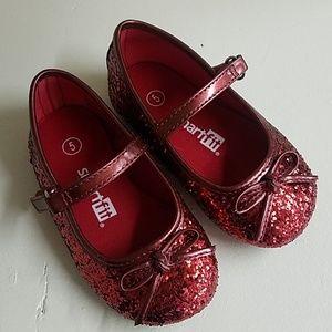 Red Shiny Costume Dorthy Girls Shoes MaryJane